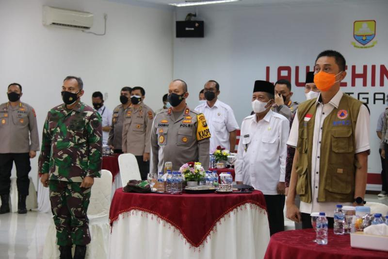 Danrem 042/Gapu Brigen TNI Zulkifki Ketika Hadiri Launcing Asap Digital Nasional di Polda Jambi, Rabu (15/8/21). FOTO : PENREM