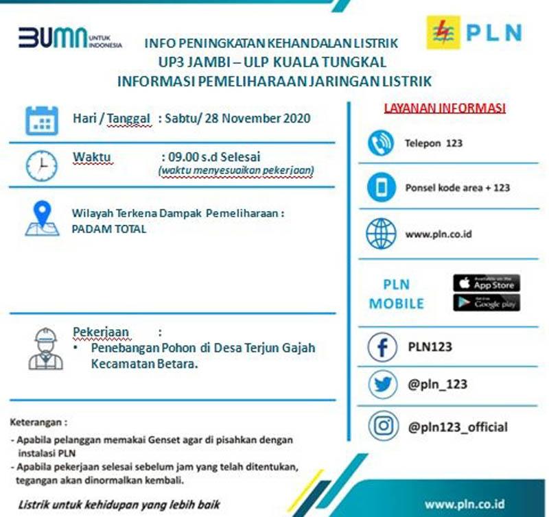 Sumber : PLN ULP Kuala Tungkal