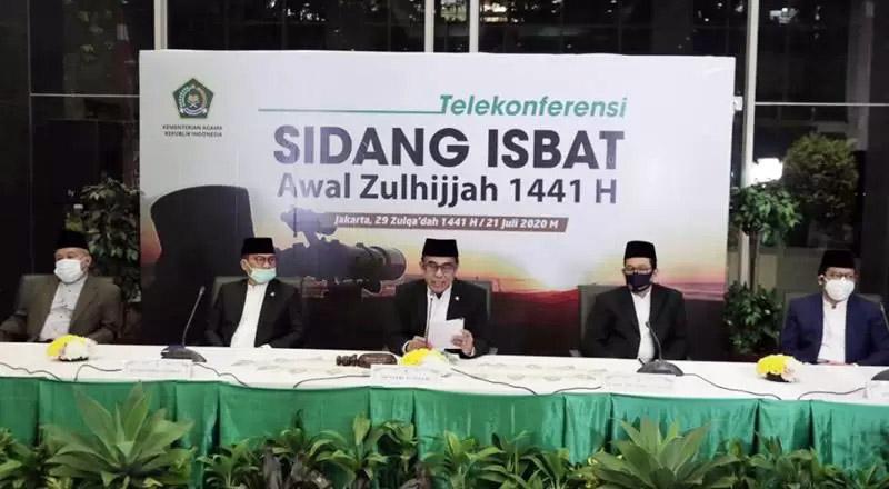 FOTO : Sidang Isbat 21 Juli 2020 yang Memutuskan Bahwa Awal Bulan Zulhijah 1441 Hijriah jatuh pada 22 Juli 2020