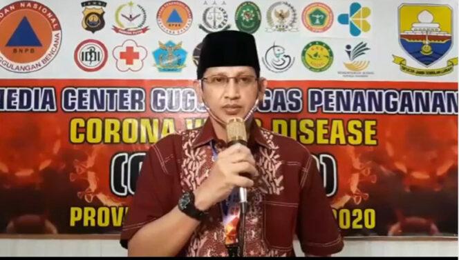 Juru Bicara (Jubir) Gugus Tugas Percepatan Penanganan dan Pencegahan Covid-19 Provinsi Jambi, Johansyah, Minggu (17/05/20)