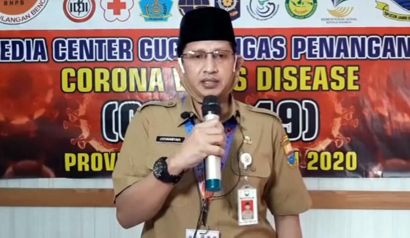 Juru Bicara (Jubir) Gugus Tugas Percepatan Penanganan dan Pencegahan Covid-19 Provinsi Jambi, Johansyah.