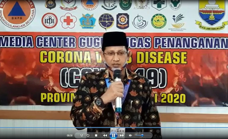 Juru Bicara (Jubir) Gugus Tugas Percepatan Penanganan dan Pencegahan Covid-19 Provinsi Jambi, Johansyah