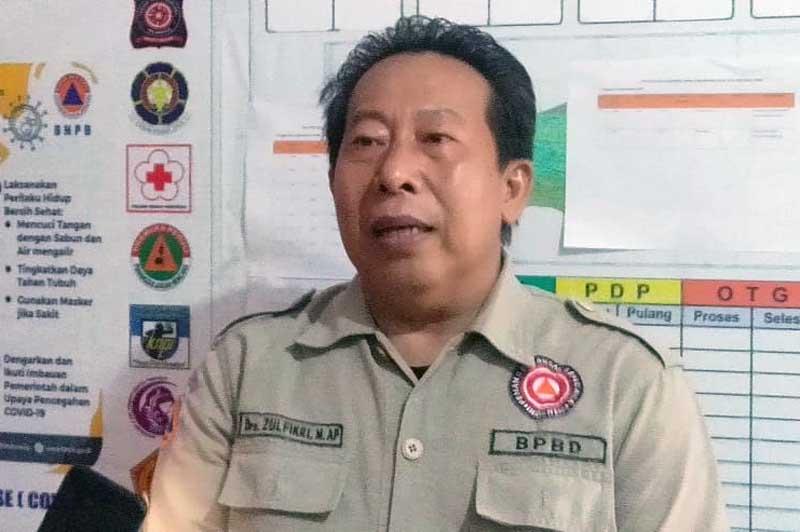 FOTO : Kepala Pelaksana BPBD Kabupaten Tanjab Barat, Zulfikri