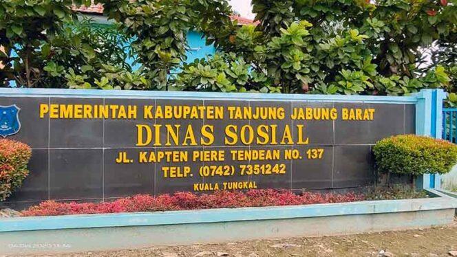 FOTO : Kantor Dinas Sosial Kabupaten Tanjung Jabung Barat/LT