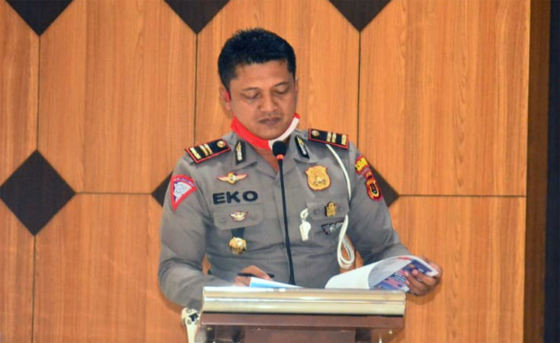 Kasat Lantas Polres Tanjab Barat IPTU Eko Sutoyo, SH