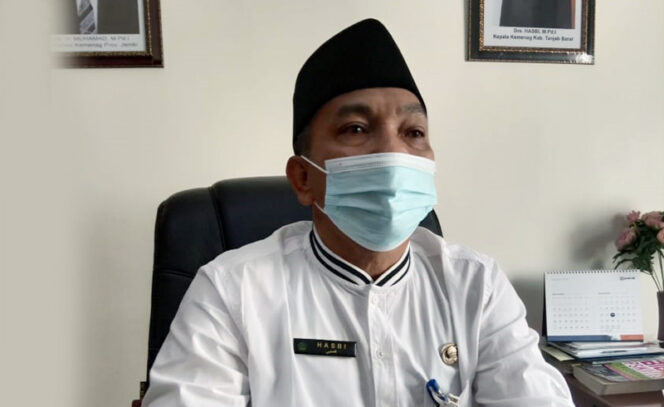 FOTO : Kepala Kantor Kementrian Agama (Kemenag) Tanjabbar Drs. Hasbi,M.Pd.I