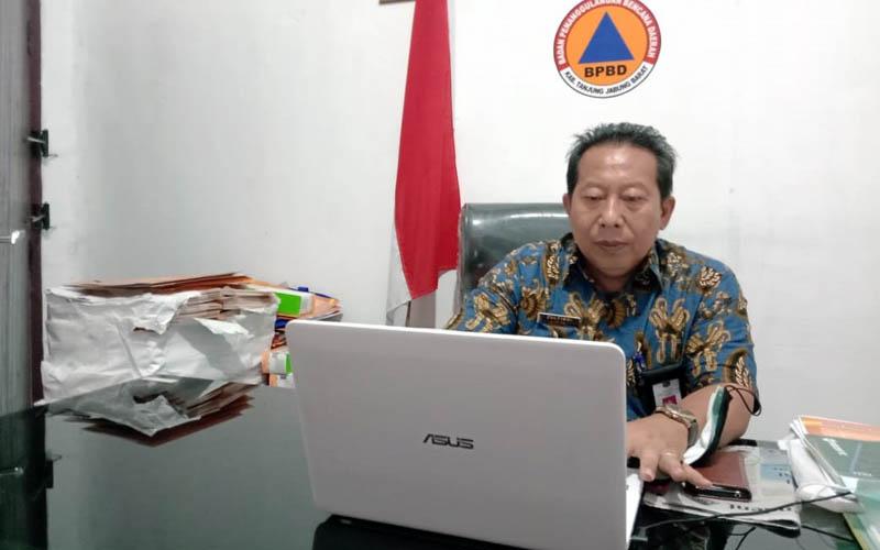 FOTO : Kepala Badan Penegulangan Bencana (BPD) Tanjung Jabung Barat, Drs. H. Zulkifli, M.AP
