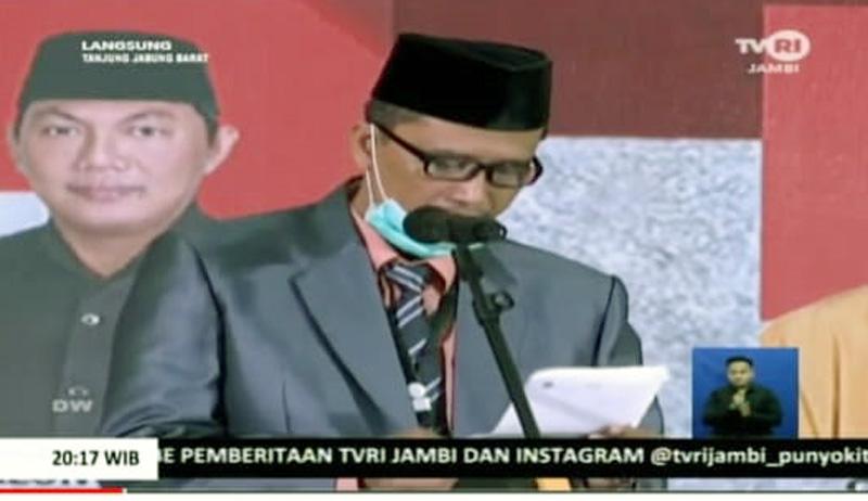 FOTO : Ketua KPU Tanjab Barat Hairuddin, S.Sos