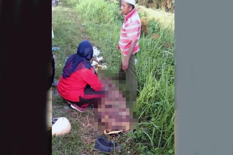 Melani Dwi Risana (30) Warga RT.03 Kelurahan Jembatan Mas, Kecamatan Pemayung Menjadi Korban Tabrak Lari. FOTO : Jambiprima.
