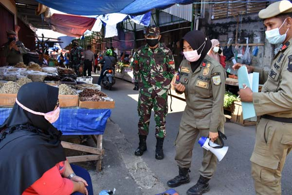 Anggota Gabungan Partoli Pelaksanaan PPKM di Kota Jambi