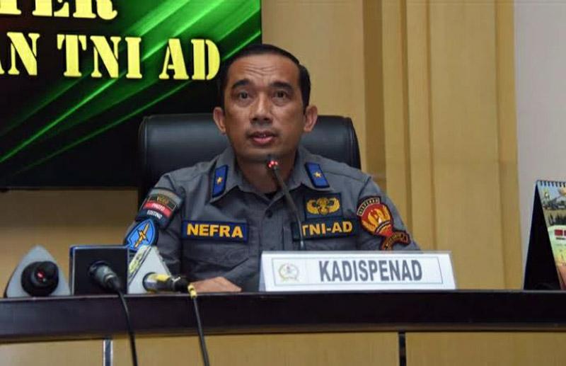 Kepala Dinas Penerangan Aangkatan Ddarat, Brigjen TNI Nefra Firdaus