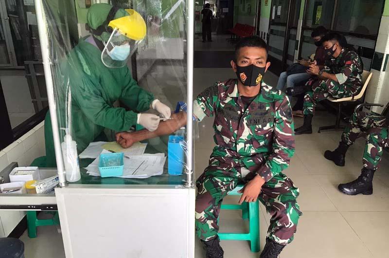 FOTO : Salah Satu Menjalai Pemeriksaan Kesehatan Sebagai Satgas Apter