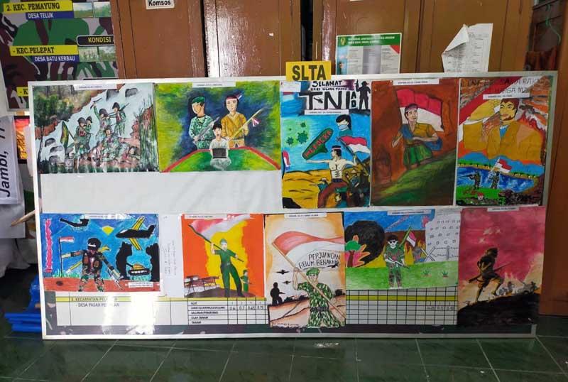FOTO : Korem 042/Gapu Mengumumkan Hasil Lomba Kreatif Melukis dan Baca Puisi dalam Rangka Memperingati Hari Juang TNI AD dan HUT ke-75 Kodam II/Sriwijaya Selasa (16/12/20).