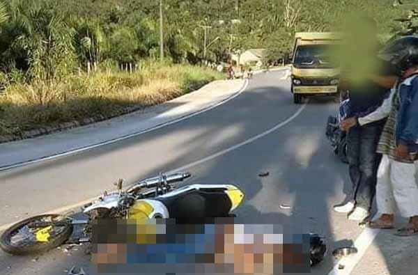 Kecelakaan di Lintas Timur Telan Satu Nyawa Pemuda Bermotor. FOTO : Istimewa