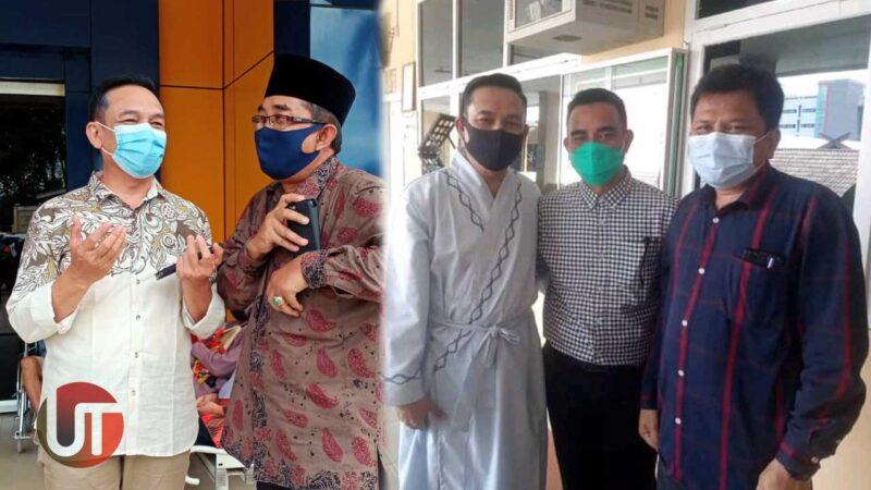 FOTO : Caption Pasangan Pilkada Tanjab Barat Bertemu Saat Mengikuti Tes Kesehatan di RSUD Raden Mattaher Jambi, Rabu (09/09/20)