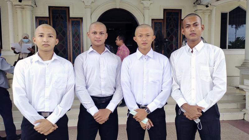 FOTO : 4 Putra Asal Tanjab Barat Lulus Seleksi Calon Taruna STTD, dari Kiri, M. Rinaldi, Muhammad Ammar Faris, M. Hafizurrahman dan Arya Kusuma, Kamis (05/11/20)