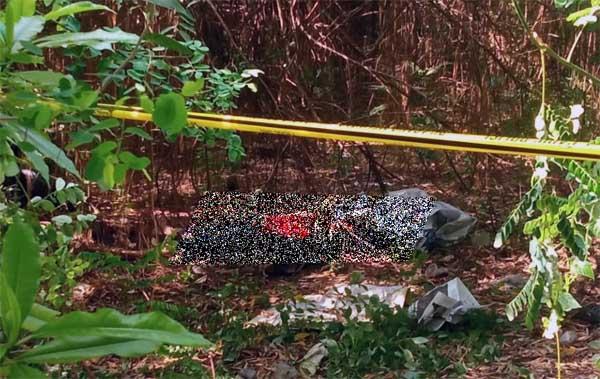 Lokasi Pria Paruh Baya Ditemukan Tidak Bernyawa di Lahan Kosong. FOTO : JAMBIINDEPENDEN
