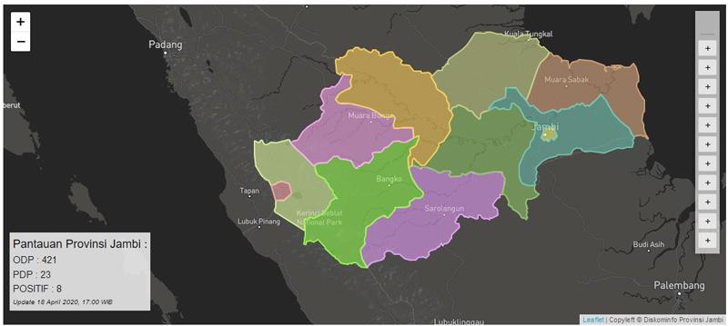 GAMBAR : Sumber Laman Resmi Situs corona.jambiprov.go.id