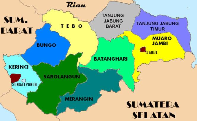 GAMBAR : Peta Provinsi Jambi