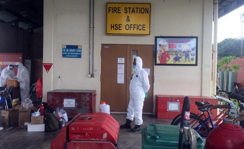 FOTO : PetroChina Saat Melakukan Uji Swab Terhadap Karyawan, Selasa (21/07/20) Lalu