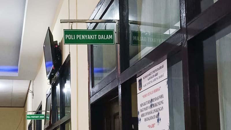 FOTO : Poli Penyakit Dalam RSUD KH. Daud Arif Kuala Tungkal, Tanjab Barat