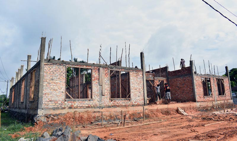 FOTO : Progres Pembangunan Panti Asuhan Korem Gapu Minggu (13/12/20).