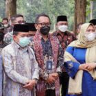 Wakil Hairan, SH Saat Turut Hadir Acara Puncak Festival Candi Muarajambi (FCM) XVI Kharisma Event Nusantara (KEN) tahun 2021 di Komplek Percandian Muara Jambi, Sabtu (25/9/21). FOTO : PROKOPIM.