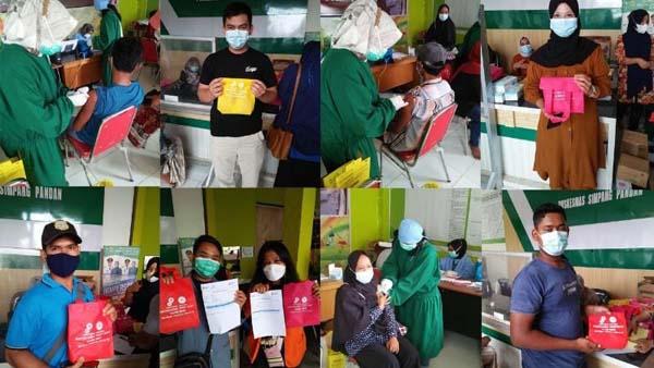 Didukung SKK Migas-PetroChina, Vaksinasi di Puskesmas Simpang Pandan Berjalan Lancar. GRAFIS : HUMAS