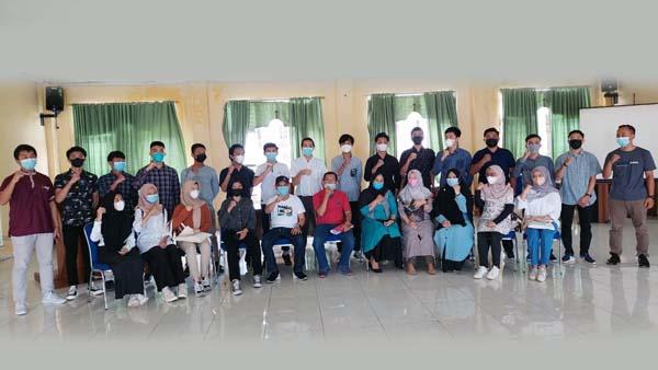 FOTO : Catar STTD Polbit Kabupaten Tanjab Barat Tahun 2021 Saat Pembinaan Menjelang pelaksanaan Tee SKD.