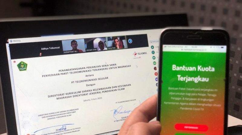 Dokumen Naskah MoU Telkomsel dan Kemendikbud