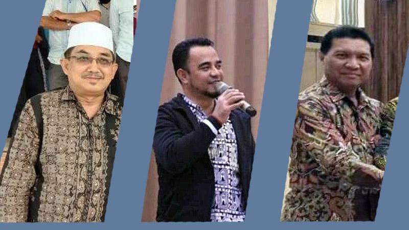 FOTO : Grafis Lintastungkal diurut dari KIRI : H. Anwar Sadat - H. Muklis kemudian Mulyani Siregar