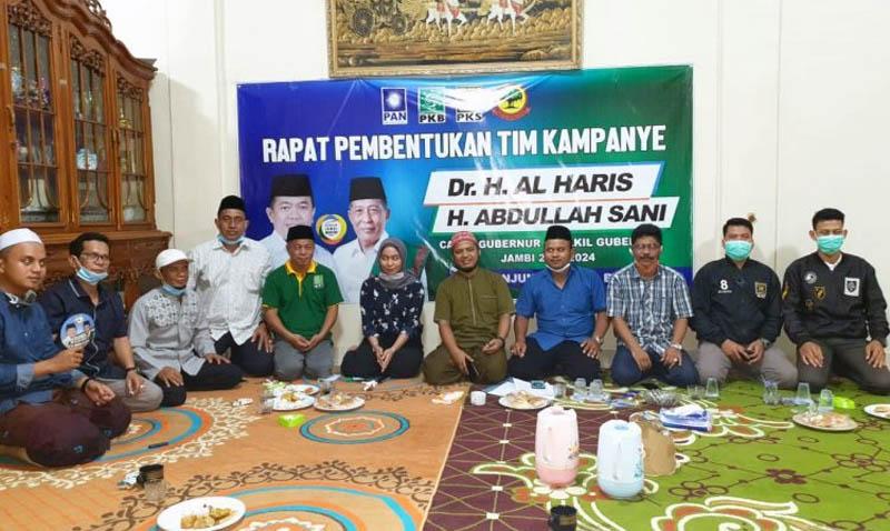 FOTO : Rapat Pembentukan Struktural Koalisi Partai PAN, PKB, PKS dan Partai Berkarya Kabupaten Tanjung Jabung Barat di Kantor DPC PKB Tanjung Jabung Barat, Sabtu (19/09/20).