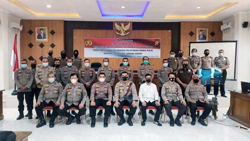 FOTO : Tim Puslitbang Polri Lakukan Penelitian di Polres Tanjab Barat, Senin (08/03/21).