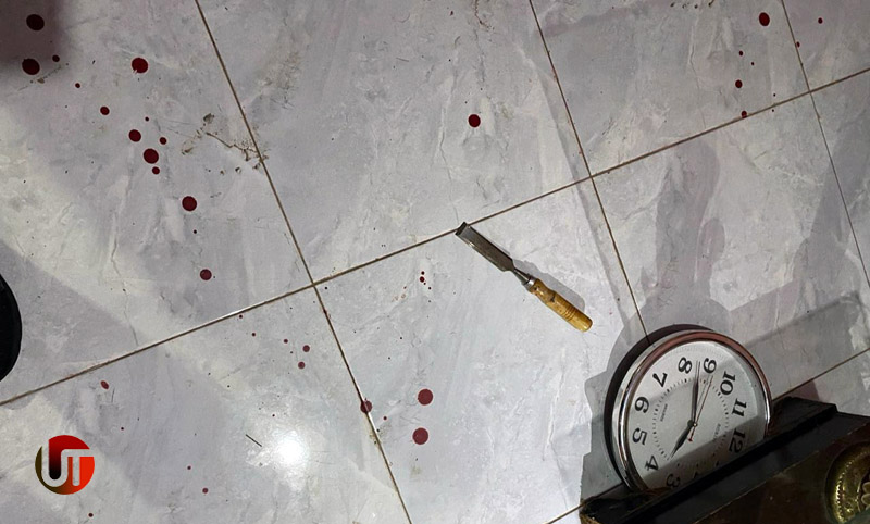 FOTO : TKP Rumah Korban Darah Bercucuran