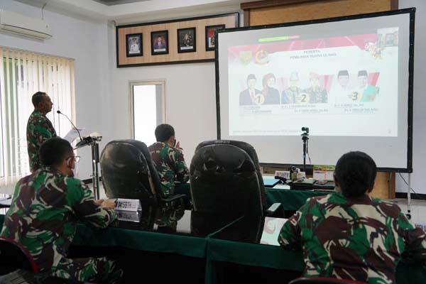 FOTO : Danrem Gelar Vicon Bersama Pangdam II/Swj Tertkait Kesiapan Pengamanan PSU Gubernur Jambi.