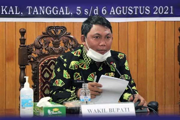 Wakil Bupati Hairan, SH impin Rapat Koordinasi Reformasi Birokrasi bersama Tim Reformasi Birokrasi Pemerintah Provinsi Jambi di Ruang Pola Utama, Kamis (05/08/21). FOTO : PROKOPIM