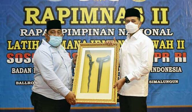 Wagubsu Musa Rajekshah saat Menghadiri Rapimnas II BKPRMI di Hotel Garuda Plaza Medan. FOTO : waspada.co.id