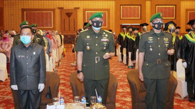 FOTO : Komandan Korem 042/Gapu Brigjen TNI M. Zulkifli menghadiri Wisuda Akademi Keperawatan Garuda Putih (Akper Gapu) ke XVIII tahun akademi 2019/2020 di Abadi Convention Center (ACC), Rabu (23/09/20).