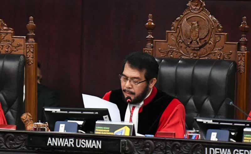 Ketua Mahkamah Konstitusi (MK) Anwar Usman. FOTO : Istimewa.