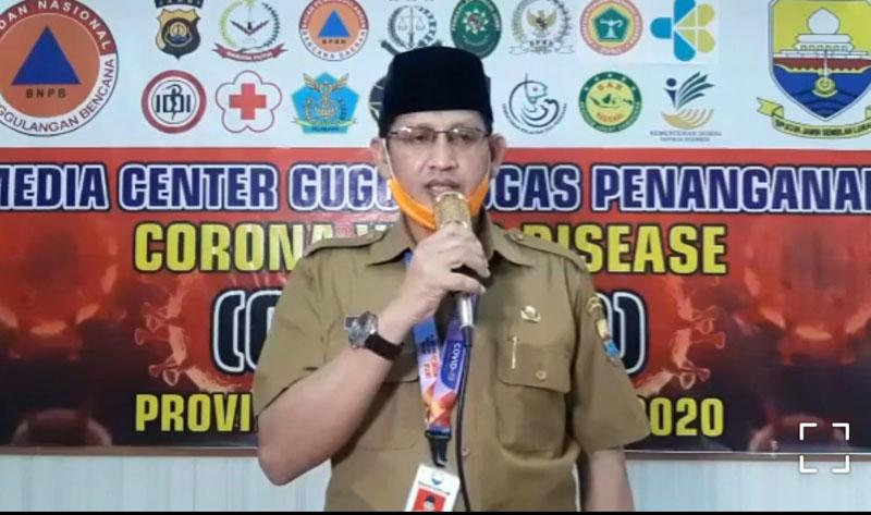 Juru Bicara (Jubir) Gugus Tugas Percepatan Penanganan dan Pencegahan Covid-19 Provinsi Jambi, Johansyah, Selasa (26/05/20)