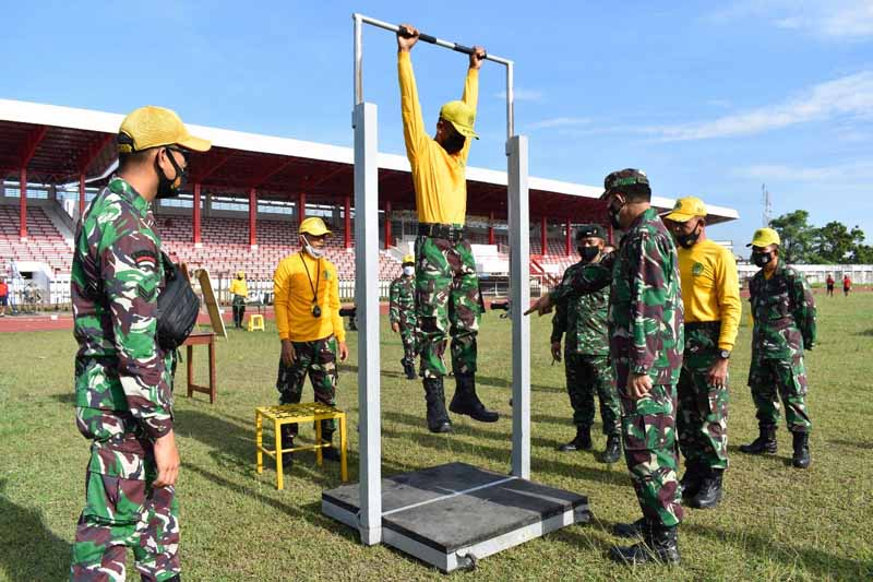 FOTO : Korem 042/Gapu Terima Sosialisasi Perubahan Garjas dari Jasdam II/Swj, Selasa (23/03/21)