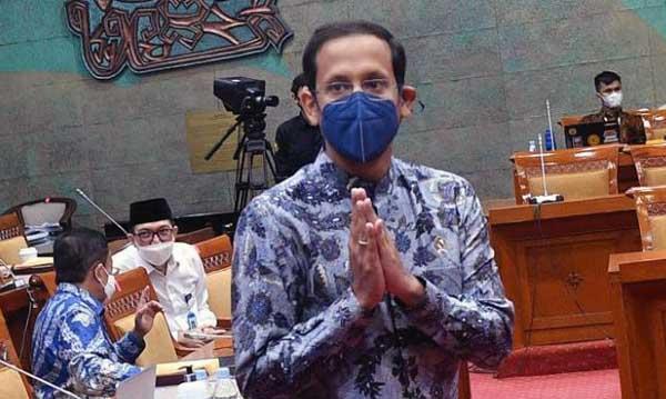 Menteri Pendidikan, Kebudayaan, Riset dan Teknologi (Kemendikbudristek) Nadiem Makarim. (Foto: ANTARA/Sigid Kurniawan)