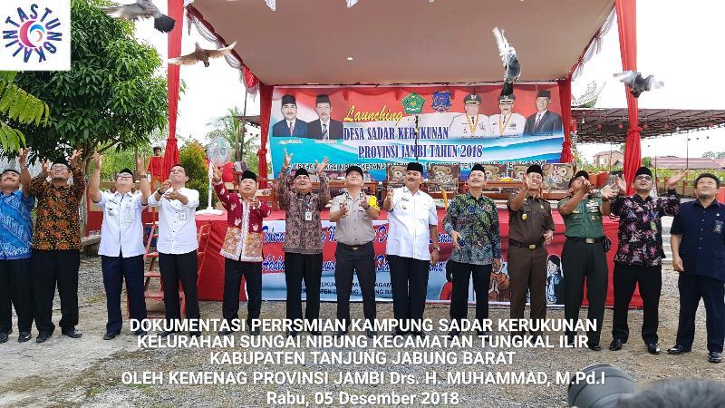 FOTO : Dokumentasi Lonching Kampung Sadar Kerukunan Di Kelurahan Sungai Nibung, Kecamatan Tungkal Ilir, Rabu (05/12/18)