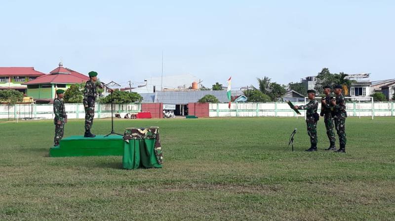 FOTO : Upacara Pelepasan Napak Tilas Peleton Beranting Yudfha Wastu Pramuka Jaya 2018 Kodim 0419 Tanjab, Minggu (16/12/18)