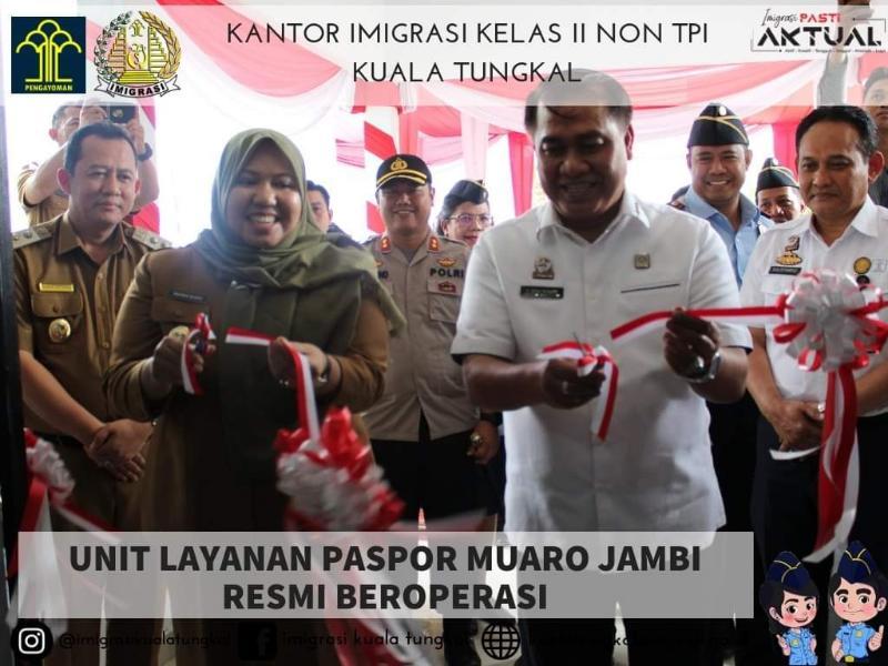 FOTO : Peresmian Kantor Unit Layanan Paspor (ULP) Kabupaten Muaro Jambi, Senin (26/08/19)