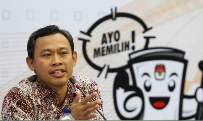 FOTO : Komisioner KPU Pramono Ubaid Tanthowi di Kantor KPU, Menteng, Jakarta Pusat.